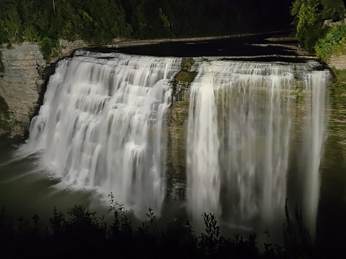 Middle Falls @ Night