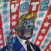 2019 VOTE Poster Times Square NYC with a They Live Touch 3650