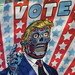 2019 VOTE Poster Times Square NYC with a They Live Touch 3649