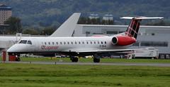 G-SAJL (PrestwickAirportPhotography) Tags: egpf glasgow airport loganair embraer emb145 gsajl