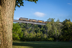 WE 101, Pigeon Creek Trestle. (Cdr. McBragg) Tags: 101 gp35 we wheeling bridge