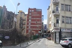 Fatih Street Scene (lazy south's travels) Tags: istanbul turkey turkish building architecture urban hotel road street scene fatih beyoglu district