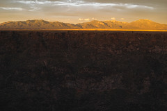 Sangre de Cristo Mountains (M///S///H) Tags: rx1 alpenglow cliff clouds fullframe landscape mirrorless mountains newmexico newmexicotrue outside pointandshoot riograndegorge sony sonyrx1 sunset taos