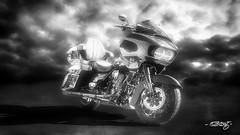 Harley #563 (dougkuony) Tags: hdr harleydavidson bw bike blackwhite blackandwhite monchrome mono motorcycle