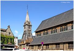 30 Honfleur  église SainteCatherine   ² (philippedaniele) Tags: honfleur 14 calvados normandie église saintecatherine nef clocher charpente bois essentage essente bardeaux colombage