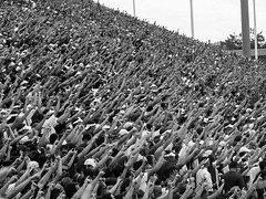 College Traditions (Alice_McCAnn) Tags: fun college football fans footballfans ou oklahoma normanoklahoma blackandwhite nationalgeographic sooners outside