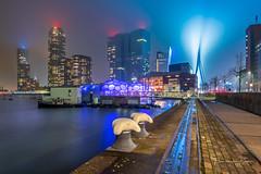Foggy City (Ellen van den Doel) Tags: night workshop mist fotografie city cityscape evening lights rotterdam cursus stad photography fog outdoor 2019 januari skyline zuidholland nederland