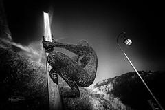 L'homme de fer (Jacques Isner) Tags: pentax pentaxk1 pentaxart pentaxflickraward besseenoisan statue artcontemporain lampadaire samyang ferronerie flickrunitedaward samyang14mm jacquesisner