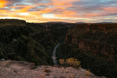The Rio Grande Gorge Bridge (M///S///H) Tags: rx1 archway bridge cliff clouds edge fullframe landscape mirrorless mountains newmexcio newmexicotrue orange outside pointandshoot riogrande riograndegorgebridge riogranderiver sony sonyrx1 steelarch steelbridge sunset taos
