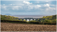 Taking the scenic route (Mark Gowing) Tags: dmu class150 portkerryviaduct passengertraincrossingporthkerryviaduct bristolchannel