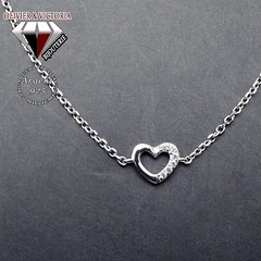 Bracelet chaîne coeur scintillant (olivier_victoria) Tags: argent 925 zircon bracelet coeur chaine brillant scintillant