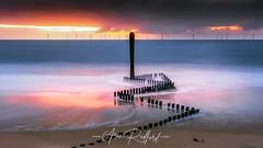 Caister LE (Aron Radford Photography) Tags: yellow caister sea caisteronsea norfolk beach sunrise dawn long exposure sand water wave defences groynes landscape east anglia uk seascape post