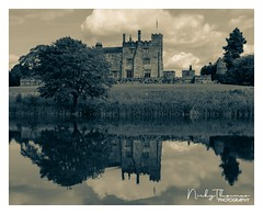 Ripley Castle, Yorkshire, England (Nicky Thomas Photography) Tags: pictureperfect ripley lovegreatbritain visitharrogate culture visitengland welshmanwithacamera explore fx yorkshire northyorkshire ripleycastle castlephotography photography photographer onlyinyorkshire harrogate visitbritain castlesofengland castlesoftheworld flickrsbest nikon nikond750 black white bw monochrome split tone noir tree landscape dramatic amateur d750 england lincoln great britain united kingdom europe nature naturephotography onewithnature reflections reflection