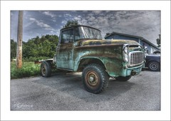 Patina Paradise (* Gemini-6 * (on&off)) Tags: framed sky clouds truck vehicle transportation international rust patina decay chrome wideangle pickup