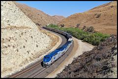 AMTK 83 (golden_state_rails) Tags: amtk amtrak coast starlight san joaquin 14 amt14 up bnsf tehachapi pass caliente narrows tunnel half passenger mojave subdivision ca california