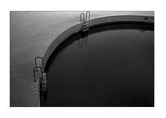 Black pool (K.Pihl) Tags: kodaktrix400800 leicam5 pool 50mmsummiluxf14 monochrome rodinal1100 water standdevelopment pellicolaanalogica schwarzweiss bw analog film blackwhite darkroom print