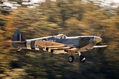 Supermarine Spitfire Mk XVI TEI 84 (Michal Jeska) Tags: supermarine spitfire mk xvi tei 84 oldtimer hahnweide aviation plane aircraft panning warbird british kirchheim unter teck canoneos1dmarkii canon1dmarkii canonef70300mmf456isiiusm