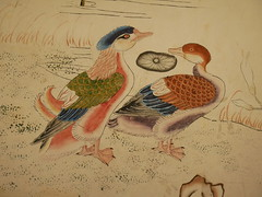 Felbrigg Hall - hand-painted Chinese wallpaper (Dubris) Tags: england eastanglia norfolk felbrigghall nationaltrust duck chinoiserie wallpaper bird