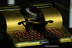 Vintage Childs Typewriter (Photographybyjw) Tags: vintage childs typewriter remarkable condition very novel one few tin toys still around shot north carolina ©photographybyjw rural countr window light