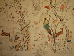 Felbrigg Hall - hand-painted Chinese wallpaper (Dubris) Tags: england eastanglia norfolk felbrigghall nationaltrust wallpaper chinoiserie