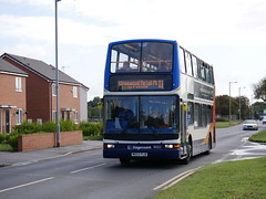 Stagecoach in Hull 18022 - MX53 FLB (Hullian111) Tags: stagecoach east midlands hull 18022 dennis trident plaxton president mx53flb mx53 flb exmanchester