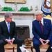 Bilateral discussions between President Niinistö and President Trump in the Oval Office.