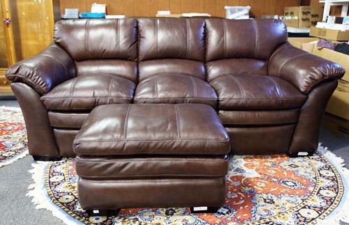 Leather sofa with Ottoman ($756.00)