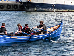 Practicing Rowing (David J. Greer) Tags: travel adventure sailtrainexplore rubicon3 explore experience voyage journey summer faroe islands torshavn torshaven classic boat row rowing young men faroeislands