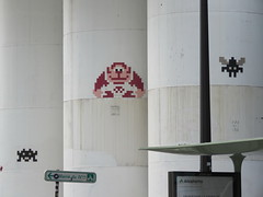 Space Invader PA_109 & PA_1081 & PA_587 (tofz4u) Tags: 75004 paris streetart artderue invader spaceinvader spaceinvaders mosaïque mosaic tile pa109 pa0109 pa587 pa1081 reactivated restauré spacerescueintl reactivationteam closeup gorille monkey donkeykong ape