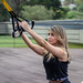 TRX exercise Squat 3