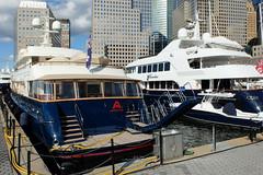 Super Yachts at North Cove Marina (ho_hokus) Tags: 2019 fujix20 fujifilmx20 manhattan nyc newyorkcity northcovemarina boat ship bacchus