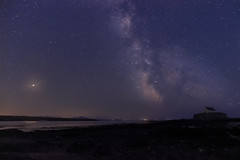 Milkyway over St Cwyfan Church in Anglesey, North Wales (Marcin Frączek) Tags: sky night astronomy star atmosphere horizon astronomicalobject cloud sea calm space landscape midnight science galaxy constellation milkyway universe anlesay wales mars