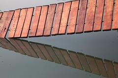 Tilted Walkway (peterkelly) Tags: digital canon 6d asia southeastasia indochinaencompassed gadventures laos vangvieng bluelagoon water pond boardwalk walkway tilted tilt path bridge