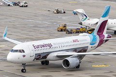 "D-AEWS | Eurowings | Airbus A320-214(WL) | CN 7439 | Built 2016 | VIE/LOWW 06/04/2019 | painted in ""AVIS car hire"" special colours Sep 2018 (Mick Planespotter) Tags: aircraft airport 2019 nik sharpenerpro3 spotter aviation avgeek plane planespotter airplane aeroplane a320 daews eurowings airbus a320214wl 7439 2016 vie loww 06042019 avis special schwechat wien flughafen vienna"