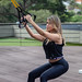 TRX exercise Squat 2