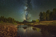 Celestial Wilderness (McKendrickPhotography.com) Tags: milkyway stars nightscape pinetrees water lake mountainmeadow