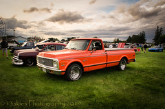 Sort of an Orange (HTT) (13skies) Tags: orange truckthursday pickuptruck truck wheels cool vintage oldie classic sporty nice beautiful sonya57 processing singleshothdr carshow local saturday benmar lights headlights classiccar happytruckthursday thursday