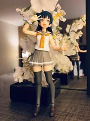 "Flower Girl (Sasha's Lab) Tags: yoshiko tsushima yohane ""lovelivesunshine"" teen girl high school uniform fuku flowers action figure jfigure gsc"