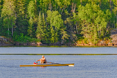 Rowing scull on the Winnipeg River - Pinawa, Manitoba (Kneale Quayle) Tags: canada manitoba pinawa summer sunrise rowing scull winnipegriver prairies