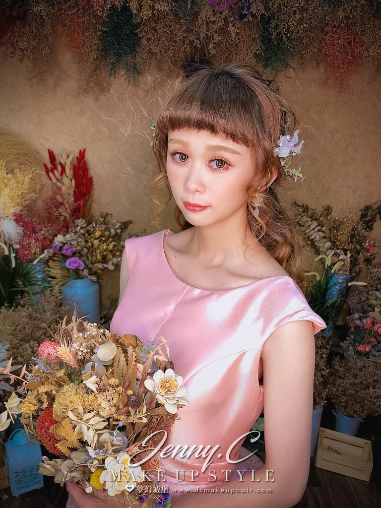 【新秘蓁妮】新娘造型創作 /  乾燥花公主頭