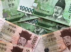 Korean Won (Elouise2009) Tags: banknotes won october2019