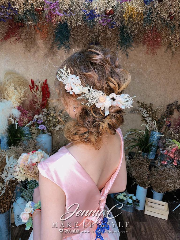【新秘蓁妮】新娘造型創作 /  甜美側盤髮
