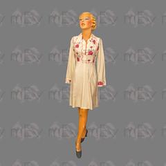 1960s Zandra Rhodes & Sylvia Ayton Lipstick Print Silk Dress (Rickenbackerglory.) Tags: vintage 1960s siegel mannequin zandrarhodes sylviaayton lipstickprint silk dress
