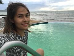 good morning (ChalidaTour) Tags: thailand thai asia asian girl femme fils chica nina woman teen sweet cute beuatiful pretty petite slender slim pool portrait good morning ocean