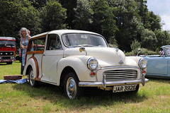 Morris Minor 1000 Traveller JAR392G (Andrew 2.8i) Tags: show automobile auto voiture cars car classics classic carmarthenshire arms bronwydd day transport railway gwili british bmc estate wagon station woody traveller 1000 minor morris jar392g