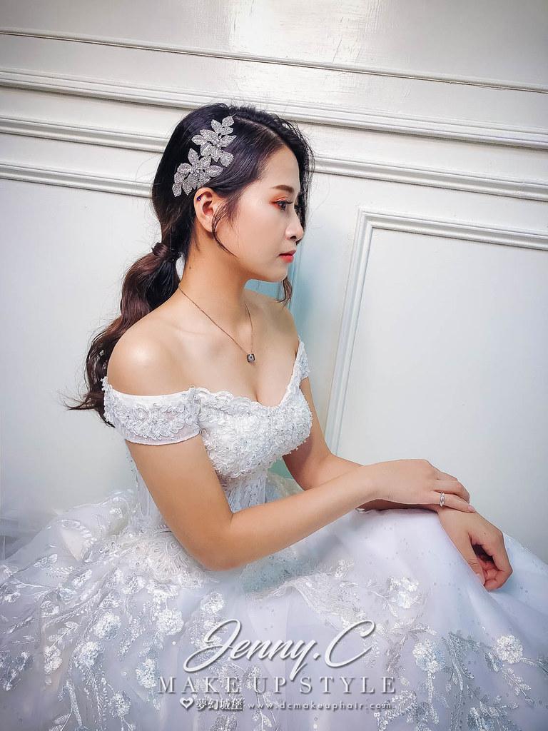 【新秘蓁妮】新娘造型創作 / 簡約低馬尾