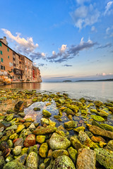 Old Town Morning (orkomedix) Tags: canon eosr samyang 14mmf28 rovinj old town croatia wide angle sunrise morning light green water clouds phototrip