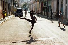 Street Football Silhouette, Havana Cuba (AdamCohn) Tags: adam cohn cuba havana alley child children football kick silhouette soccer street streetphotographer streetphotography wwwadamcohncom adamcohn