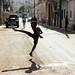 Street Football Silhouette, Havana Cuba