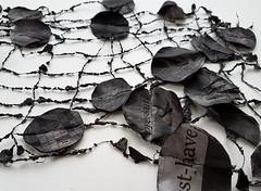 news texture (Ines Seidel) Tags: black nyt newspaper news circles grid texture pattern fabric fiberart zeitung papier garn tusche newyorktimes